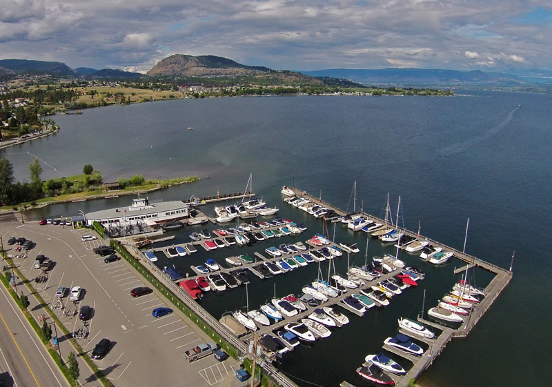 West Kelowna Yacht Club Aerial View